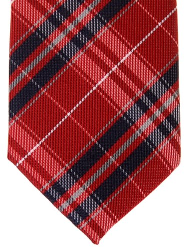 Retreez Stylish Plaid Checkered Woven Microfiber Skinny Tie - Various Colors