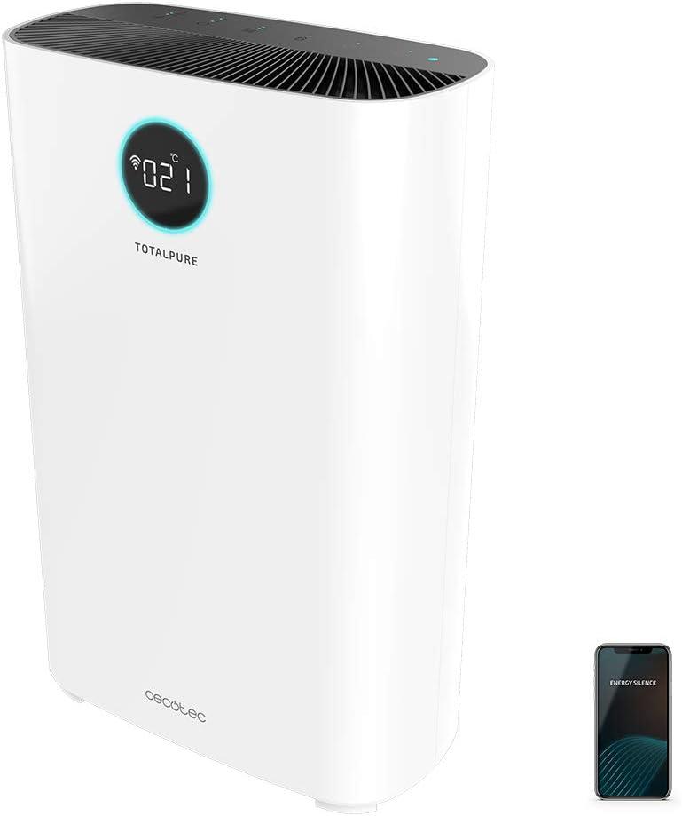 Cecotec Purificador de Aire TotalPure 5000 Connected. 400 CADR, Cobertura 130m3, Pantalla LED, Control por Wi-Fi