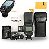 Godox V850II GN60 2.4G 1/8000s HSS Camera Flash Speedlight with 2000mAh Li-ion Battery Features 1.5s Recycle Time and 650 Full Power Pops for Fuji,Godox XPro-F Flash Trigger for Fuji Camera
