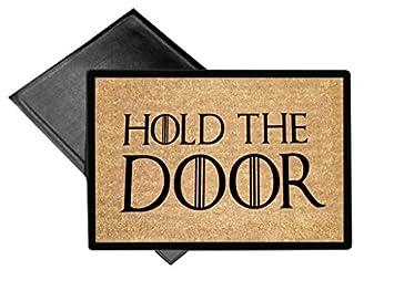 Hold The Door Welcome Mat 18x24 Outdoor Doormat Rug By EandM