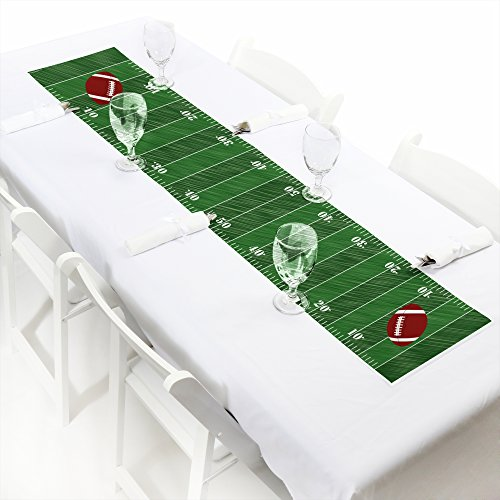 End Zone - Football - Petite Baby Shower or Birthday Party Paper Table Runner - 12'' x 60'' by Big Dot of Happiness