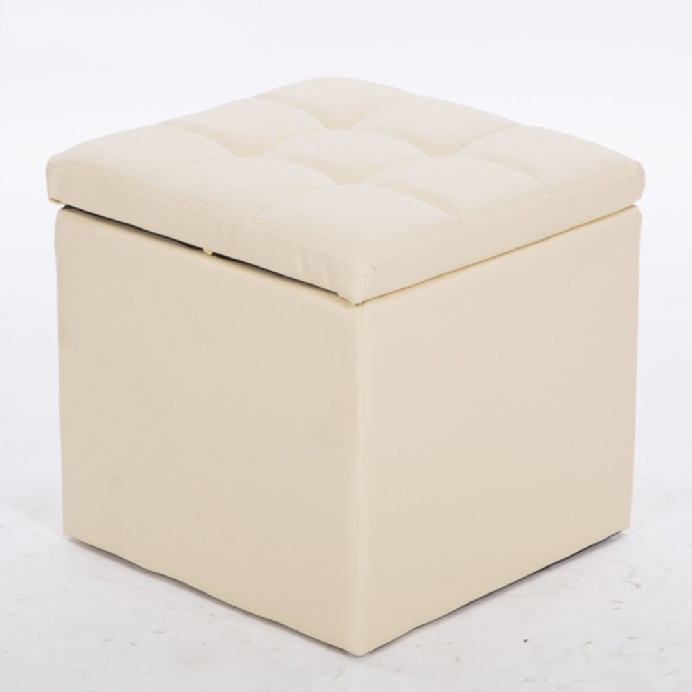 Beige Byx- Fitting Room Storage Stool shoes Bench Foyer Sofa Stool Living Room Bedroom Dressing Table Shopping Mall shoes Store Footstool -Footstool with Storage (color   Brown)