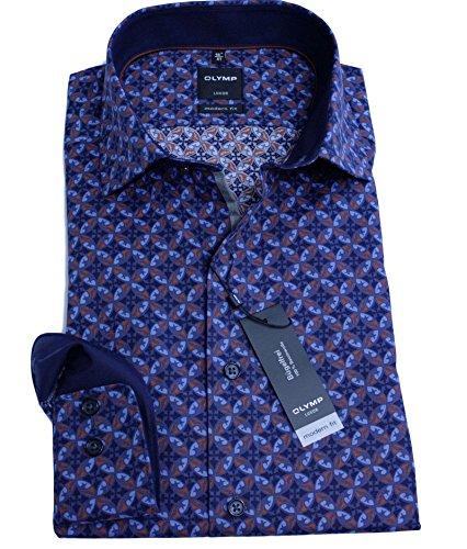 Olymp Luxor Hemd, Langarmhemd, modern fit, bedruckt, Gr. 40