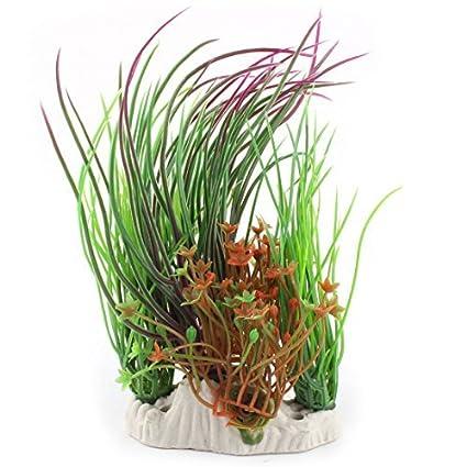 eDealMax Decoración Hierba Planta plástico tienda Goldfish del acuario del tanque de agua decorativa Artificial