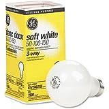 (12 Bulbs) GE : Three-way soft white incandescent bulb, 50/100/150 watts