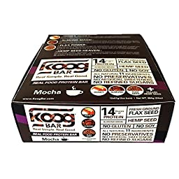 Real Food Protein Bar Koog Mocha Bar Health is Wealth 12 bars/box