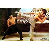 """Bruce Lee VS Chuck Norris Kung Fu Master of Martial Arts Wall Decoration Poster Size 31""""x21""""(#002)"""