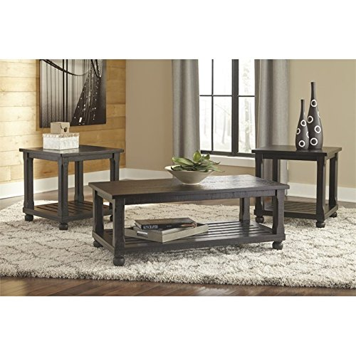 Signature Design by Ashley T145-13 Occasional Table Set, Black