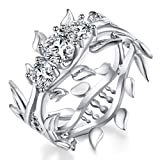 #6: WILLTOO 2-in-1 Fashion Womens Diamond Ring Creative Jewelry Engagement Wedding Ring - Gift for Her