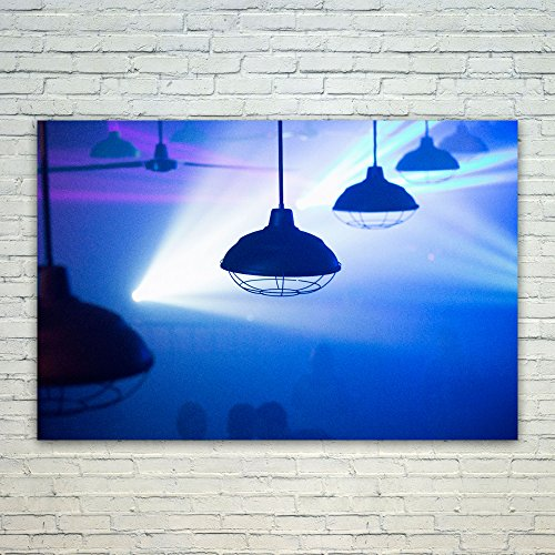 Dark Blue Water Goblet - Westlake Art Light Fixture - 12x18 Poster Print Wall Art - Modern Picture Photography Home Decor Office Birthday Gift - Unframed 12x18 Inch (98AB-D1FC7)
