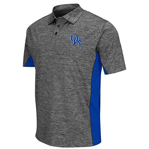 """Kentucky Wildcats NCAA """"Back Rush"""" Men's Performance Polo Shirt - Charcoal"""