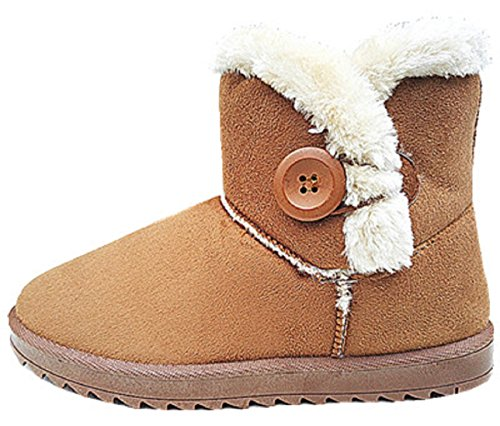 Boots Fur L Bottine Heel Camel Boots Warm Lady Snow Shoe Flat 9 Girls 4fSwTqYxC