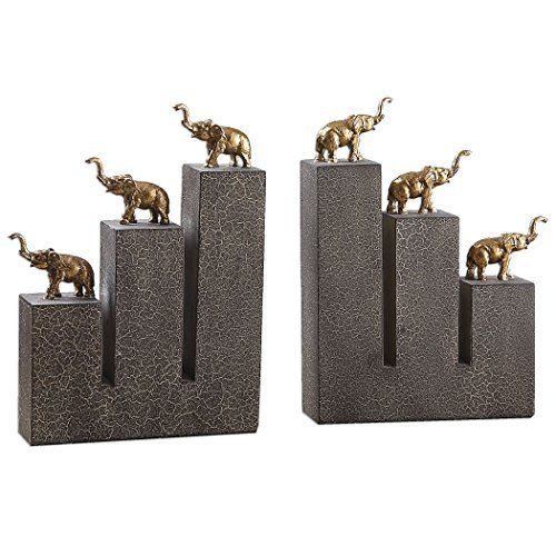 2-Pc Elephant Bookends by Uttermost