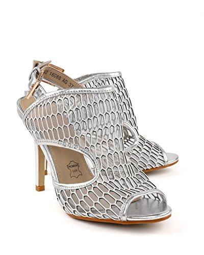 JEZZELLE - Sandalias de vestir para mujer plata