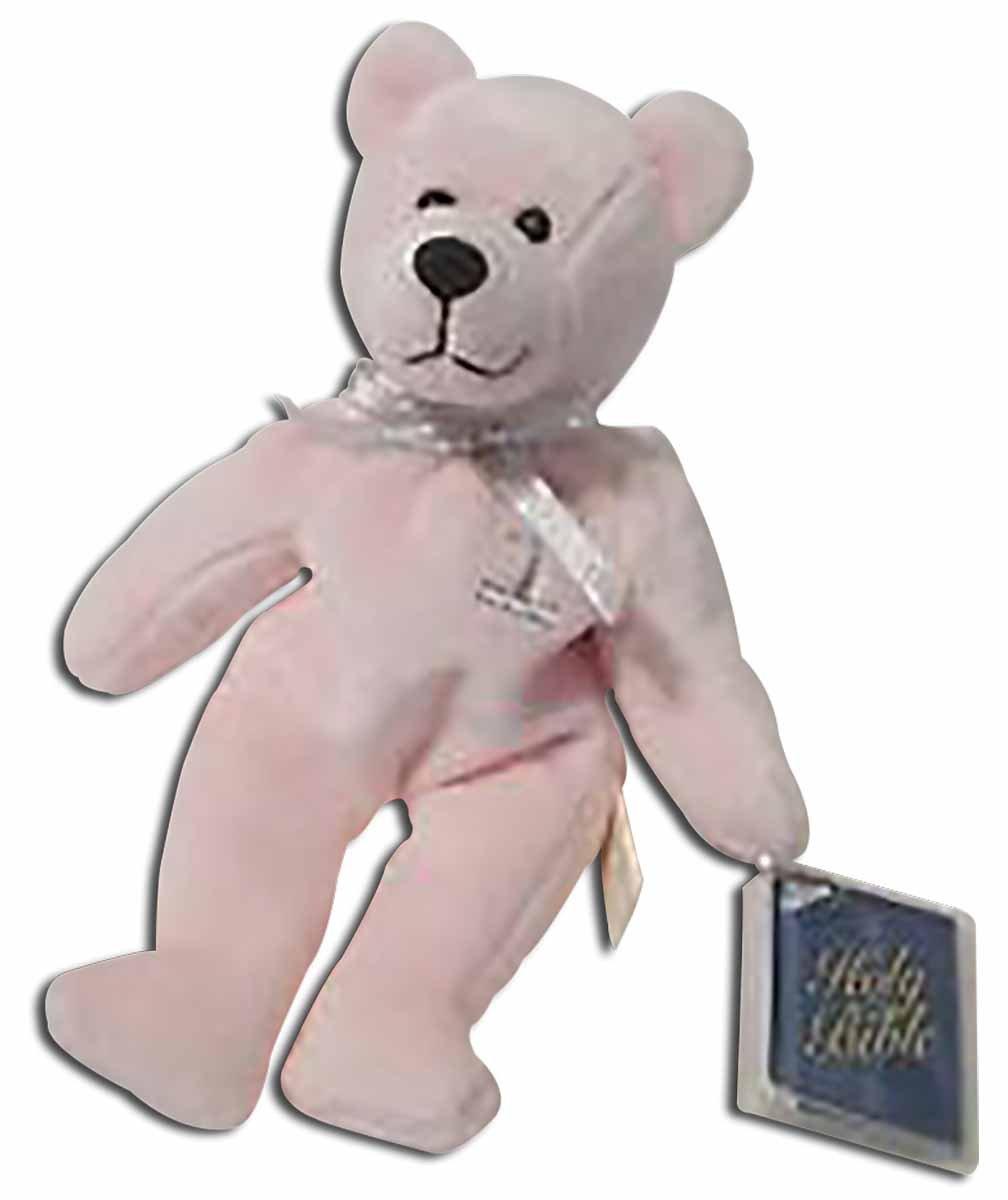 HB001 Teddy Bear Pink Baptism Bear Holy Bears 8 8