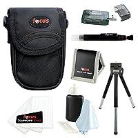 Canon PowerShot ELPH 190 IS 20 MP Digital Camera (Red) + Sony 16GB Memory Card + Focus Medium Point & Shoot Camera Accessory Bundle