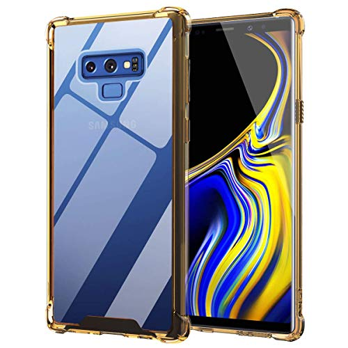 Ztotop SSGLS-003 Case for Samsung Galaxy Note 9Hybrid Protective Clear Case Anti-Scratch Shockproof Rugged Hard Back Cover with Soft TPU Bumper Cushion for Samsung Galaxy Note 9, Yellow