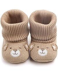 Little Baby Boy Girl Newborn Premium Knit Soft Fleece Snow Booties Infant Warm Winter First Walker Shoes