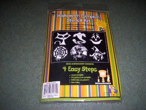 Halloween Pumpkin Stencil Kit(6 patterns & tools) -