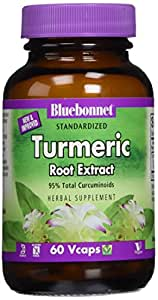 BlueBonnet Turmeric Root Extract Supplement, 60 Count