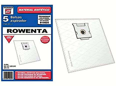 Synthetic Vacuum cleaner bag Rowenta ZR470 Ambia Pack of 5 ...