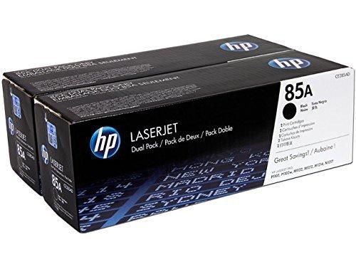 HP CE285AD Toner per stampanti Laserjet, colore nero (2 pezzi) Cartucce Cartucceperstampantiefax