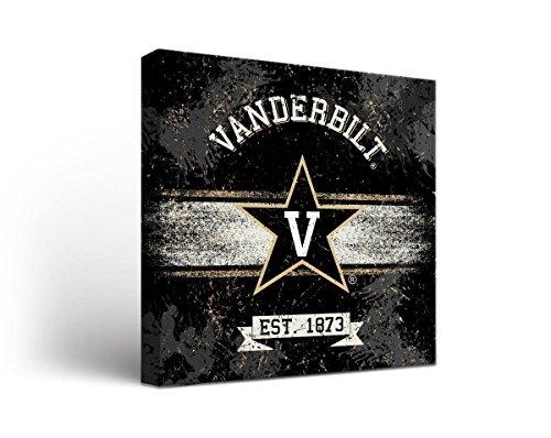Vanderbilt Commodores Wall - Victory Tailgate Vanderbilt University Commodores Canvas Wall Art Banner Design (24x24)