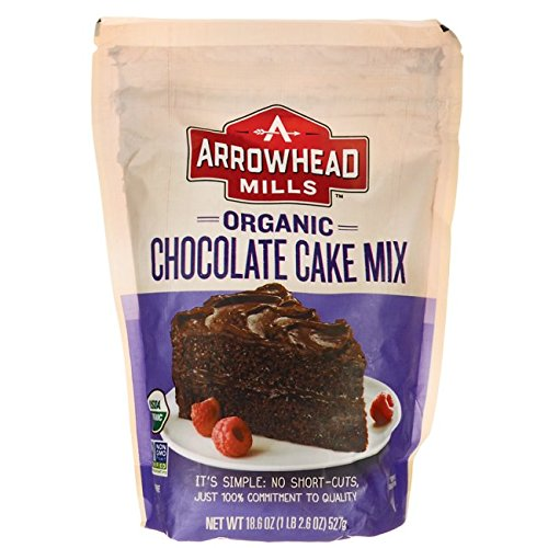 Arrowhead Mills Organic Chocolate Cake Mix, 18.6 oz. (Chocolate Organic Cake)