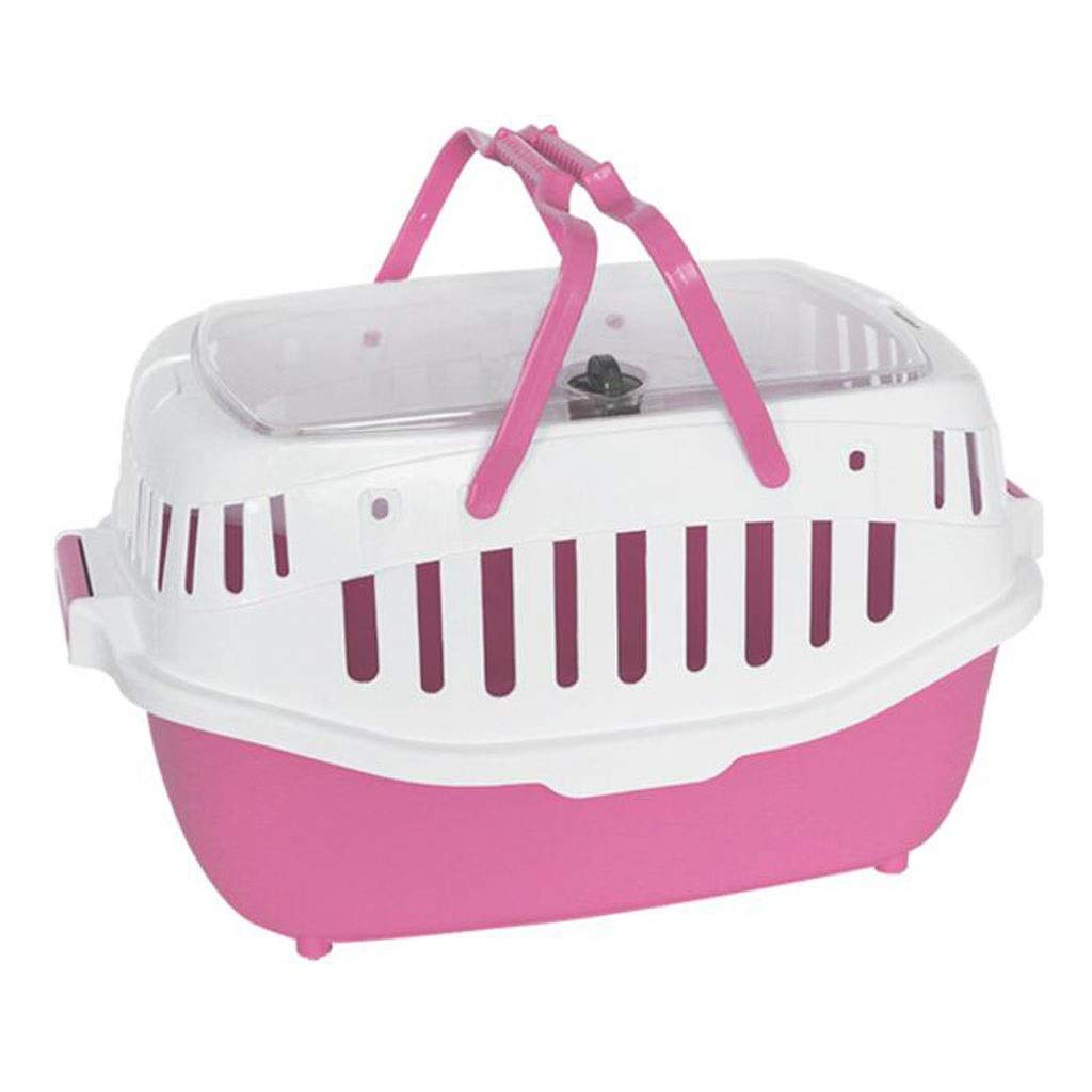 Pink FJH Shopping Basket Pet Box Dismantling Cage Carrying Cat Portable Travel Transport Car Out Shipping 3 color 58  42.5cm (color   Pink)