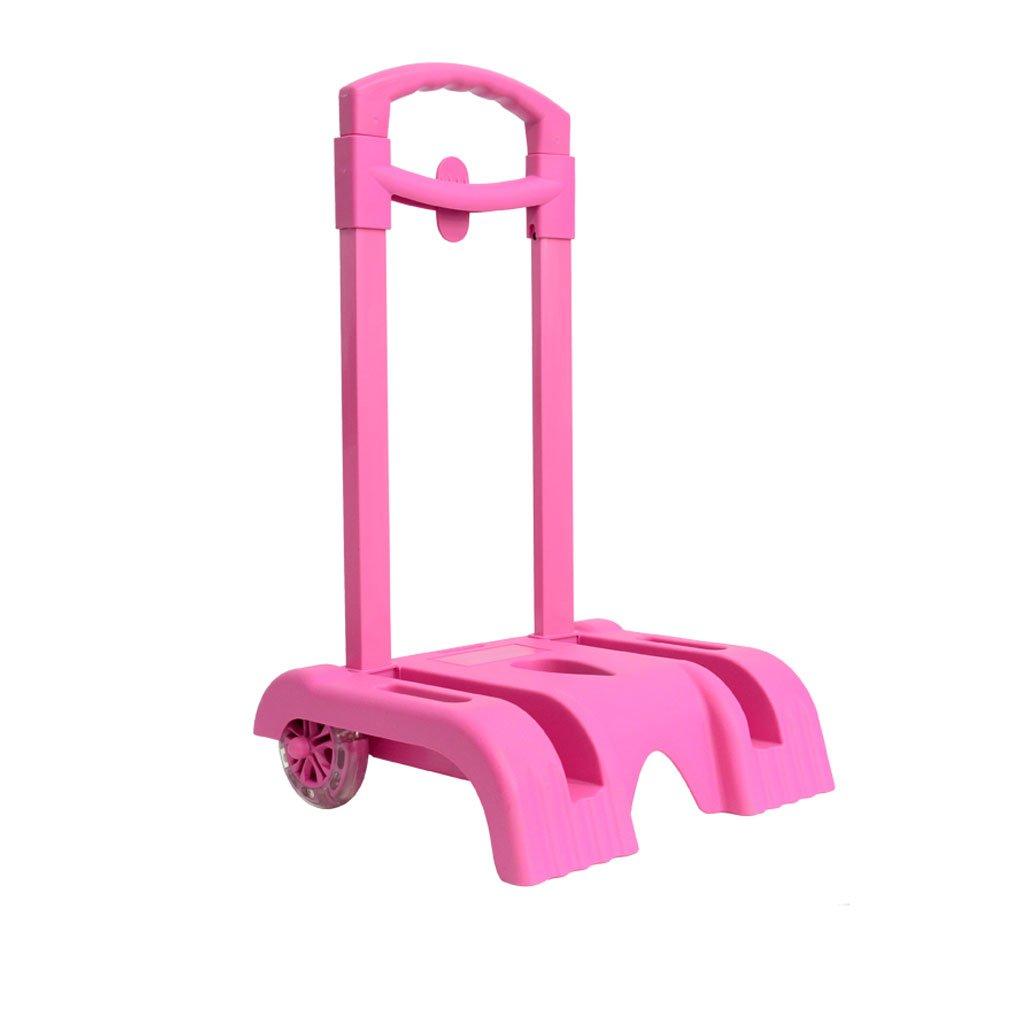 Trolley Cart Hand Cart Aluminium Alloy Folding Wheeled Trolley for Backpack