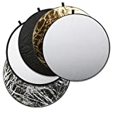 2811 Square Perfect Professional Quality 43 Inch 5-in-1 Light Multi Collapsible Photo Disc Reflector