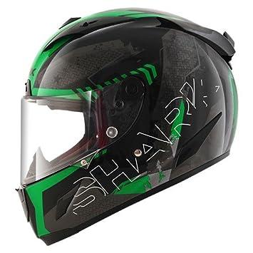 Shark casco Moto Race R Pro cintas KGA, verde, talla L