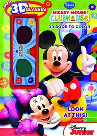 bendon publishing mickey mouse clubhouse look at this 3d coloring book with 3d glasses