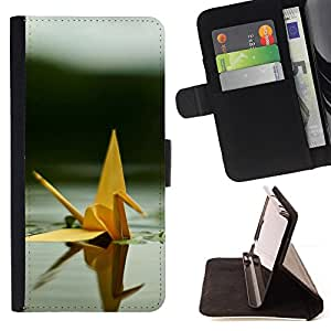 DEVIL CASE - FOR Samsung Galaxy S3 Mini I8190Samsung Galaxy S3 Mini I8190 - Cute Origami Swan - Style PU Leather Case Wallet Flip Stand Flap Closure Cover