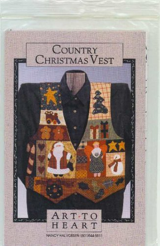 Country Christmas Vest Sewing Pattern & Fabric Kit by Nancy Halvorsen by Art To Heart