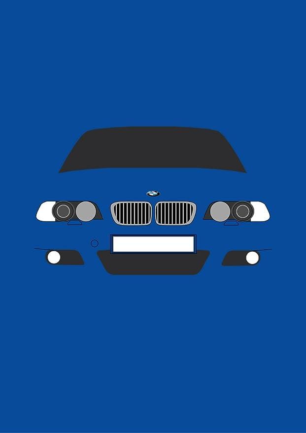 BMW E46 M3 - Tarjeta de felicitación Retro Motor Company: Amazon.es: Oficina y papelería