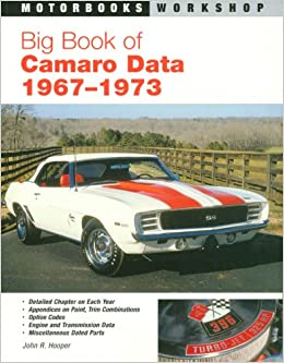 Big Book of Camaro Data 1967-73: Amazon.es: John Hooper: Libros en idiomas extranjeros