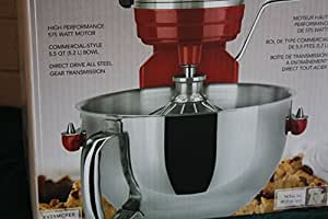 KitchenAid Professional 575-watt 5.5 Qt Mixer, Red-Red