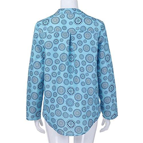 Azzurro Felpa Camicie ChallengE Sweatshirt a Estate Top pois In Tops Camicetta Maglietta Autunno Lunga Manica Donne Top Pullover Camicetta Bluse Felpa Stampa T Donna Pizzo Grossa Taglia Shirt 7UgwWUnPrp