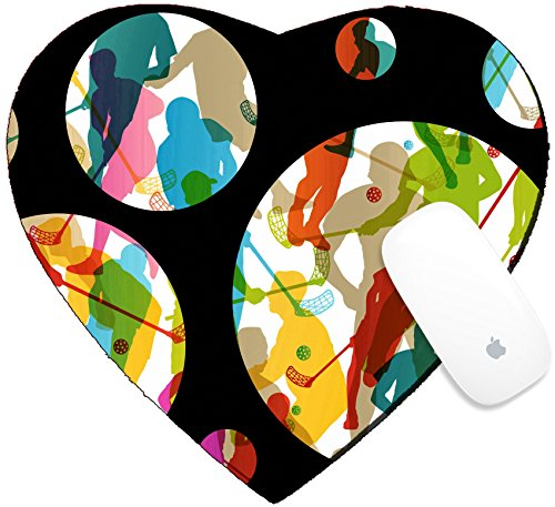 Luxlady Mousepad Heart Shaped Mouse Pads/Mat design IMAGE ID 25989704 Floor ball players active men sport silhouettes vector abstract background - Sport Man Vector