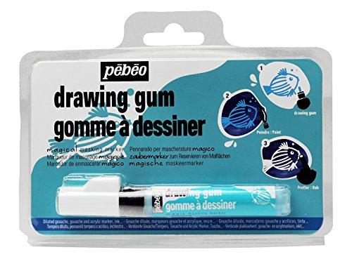 (Pebeo MAGIC! Drawing Gum Marker for Kids, Masking Fluid, 4 mm)