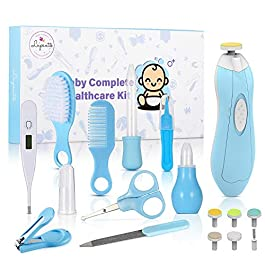 Lupantte Baby Grooming Kit Newborn, 18PCS Baby Healthcare Kit Baby Care Accessories, Safety Cutter Nail Care Set, Nasal Aspirator, Nursery Baby Care Kit for Infants Newborns