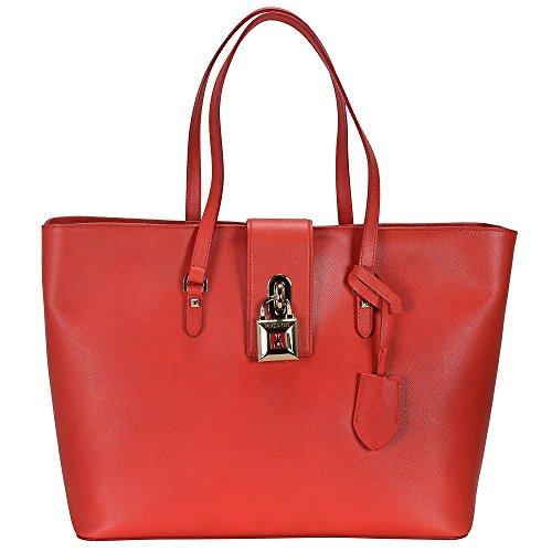 Patrizia Pepe Lock Fly bolso totes piel 37 cm Bright Red
