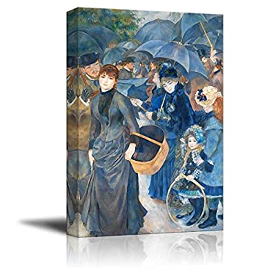 Grand Visual, Created By a Professional Artist, The Umbrellas by Pierre Auguste Renoir Print Famous Oil Painting Reproduction