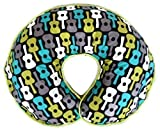 Nursing Pillow Cover Groovy Guitars Lime Green Blue Gray