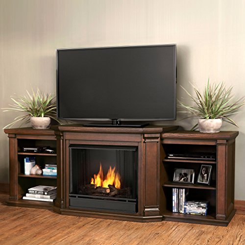 Valmont Entertainment Gel Fireplace in Chestnut Oak Finish - Oak Finish Gel
