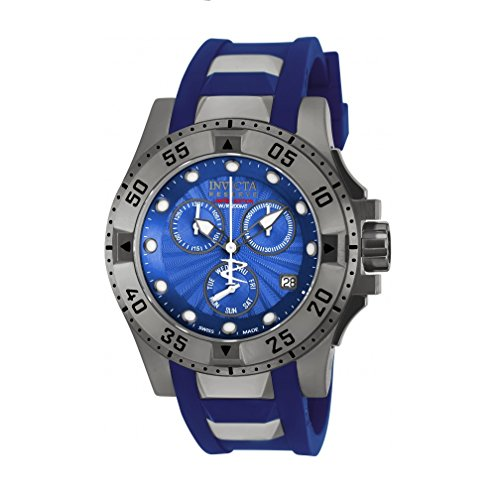 Invicta Women's 18692 Excursion Reserve Swiss Chronograph Blue Dial Rubber Watch