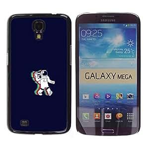 MOBMART Carcasa Funda Case Bandera Cover Armor Shell PARA Samsung Galaxy Mega 6.3 - Rainbow Astronaut Cosmonaut