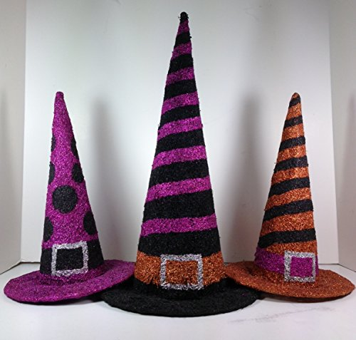 Grasslands Road Halloween Decorative Wire Witch Hats, Set of 3 (469529)]()