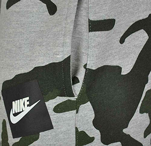 c4821f3214aef Nike Mens Club Fleece Jog Pant Camo Track Pant Cuffed Tracksuit Bottoms  Grey New AH7020 (Small)